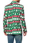 Christmas Green Nordic Blazer