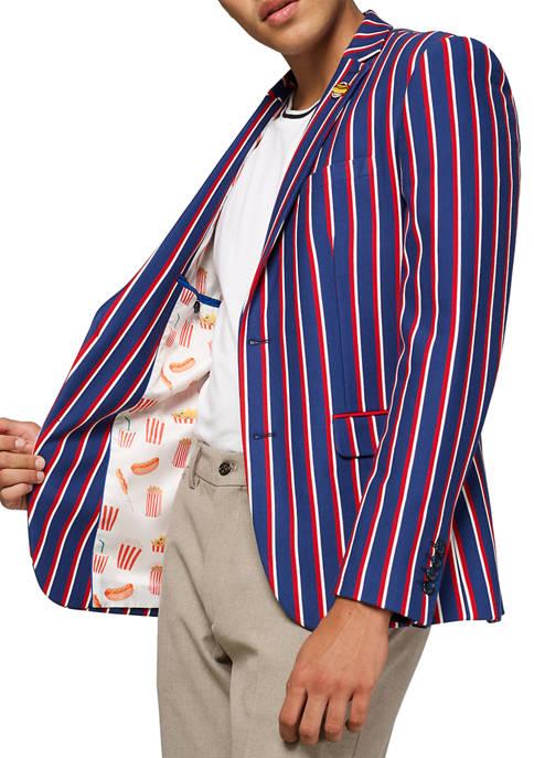 OppoSuits Deluxe Cheer Stripes Blazer