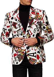 OppoSuits Men's King of Clubs Cards Blazer