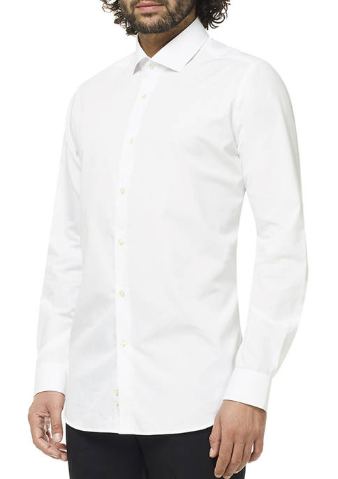 OppoSuits Mens White Knight Shirt