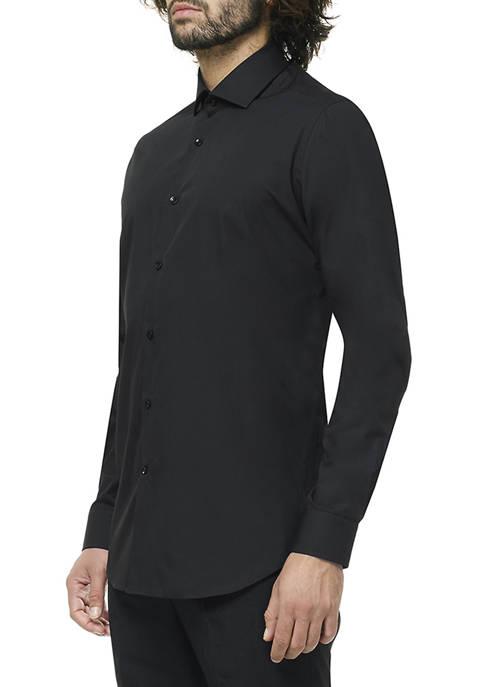 OppoSuits Mens Black Knight Shirt