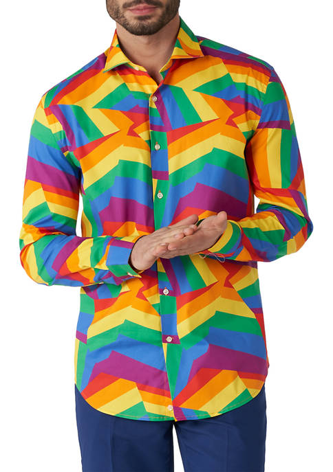 Zig Zag Rainbow Pride Shirt