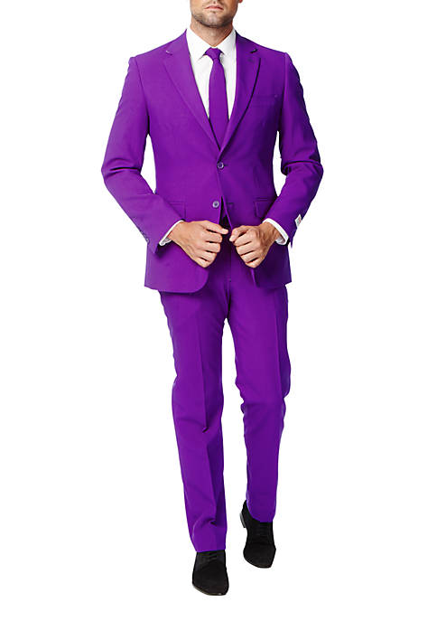 OppoSuits Purple Prince Solid Suit