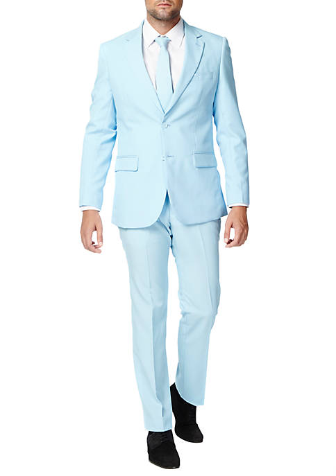 OppoSuits Cold Blue Solid Suit