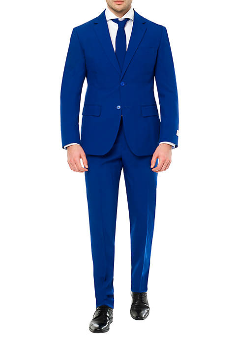 OppoSuits Navy Royale with Flaminguy Lining Suit