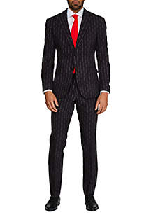 OppoSuits Merry Pinstripe Christmas Suit