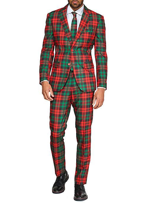 Trendy Tartan Christmas Suit
