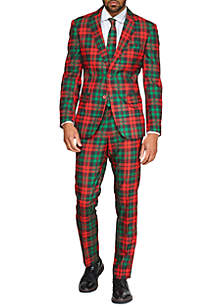OppoSuits Trendy Tartan Christmas Suit