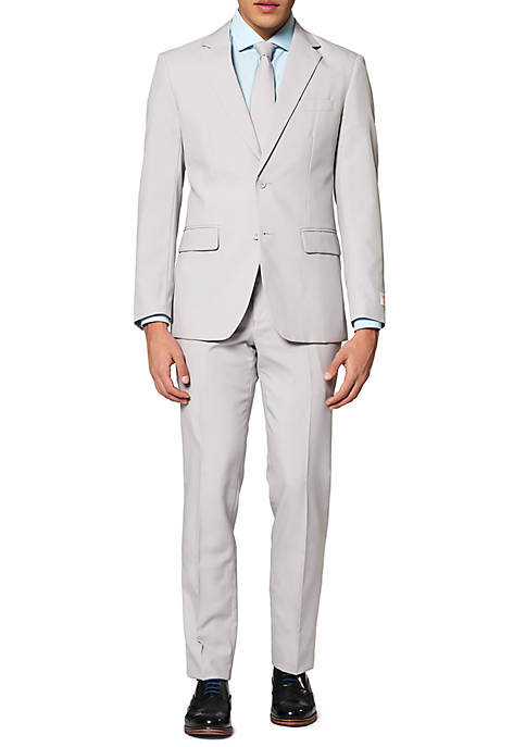 OppoSuits Groovy Grey Solid Suit