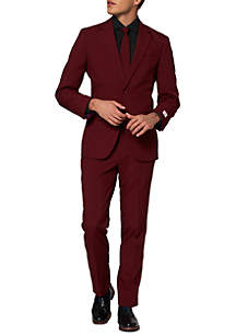 OppoSuits Blazing Burgundy Solid Suit