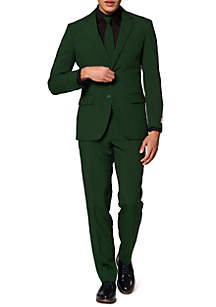 OppoSuits Glorious Green Solid Suit