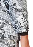 Textile Telegraph Newspaper Print Suit