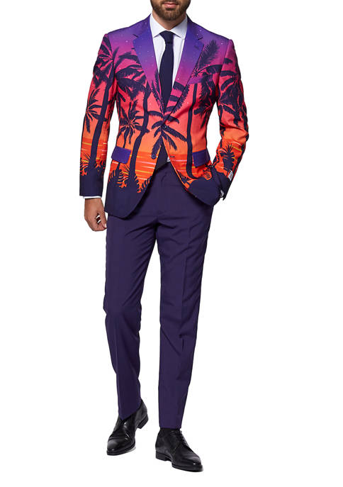 OppoSuits Suave Sunset Tropical Slim Fit Suit