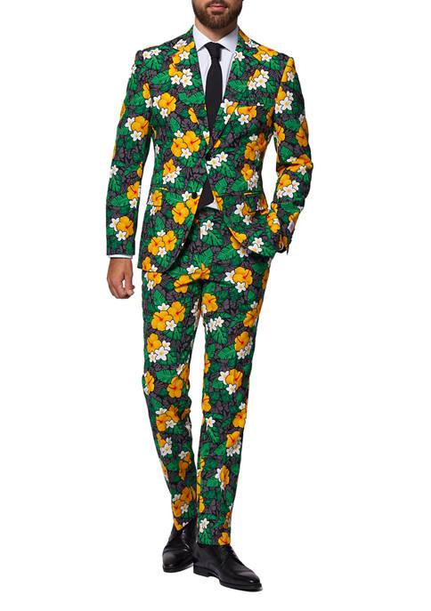 OppoSuits Tropical Treasure Flower Slim Fit Suit