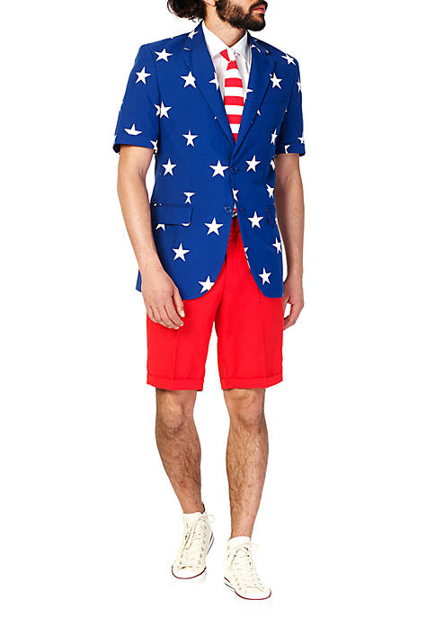 OppoSuits Summer Stars And Stripes 2-Piece Suit