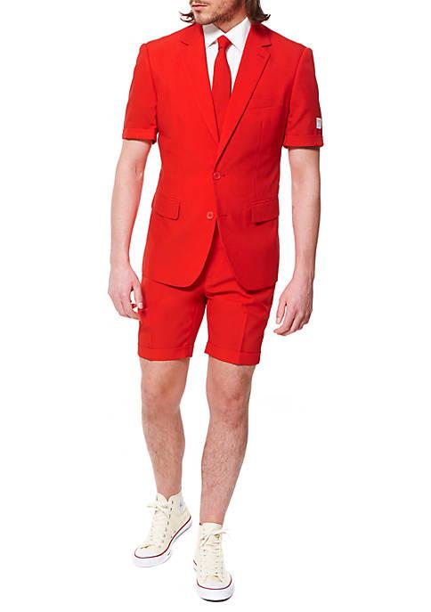 OppoSuits Summer Red Devil 2-Piece Suit