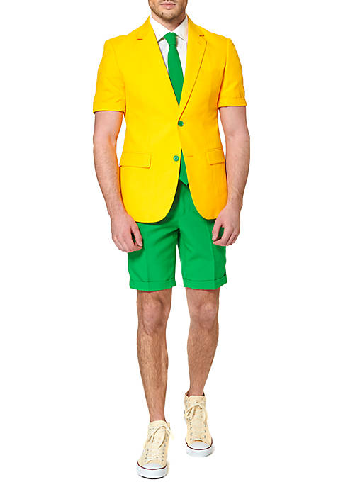 OppoSuits Summer Green And Gold 2-Piece Suit