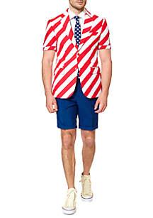 OppoSuits 2-Piece Summer United Stripes Suit Set