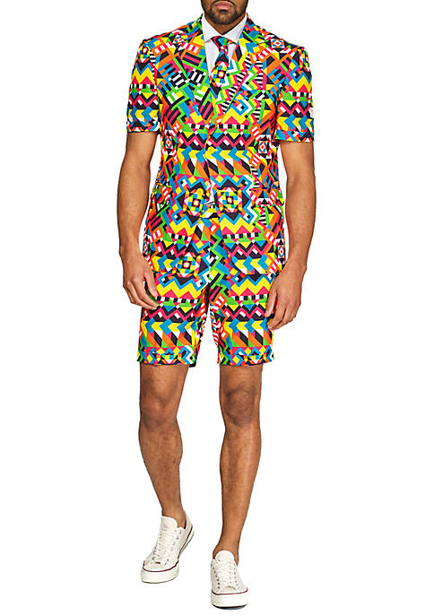 Summer Abstractive Retro Suit