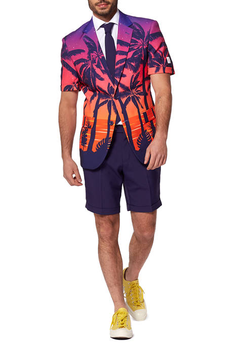 OppoSuits Suave Sunset Tropical Slim Fit Summer Suit