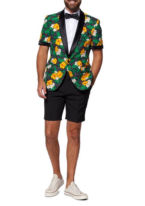 Tropical Treasure Flower Slim Fit Summer Tuxedo