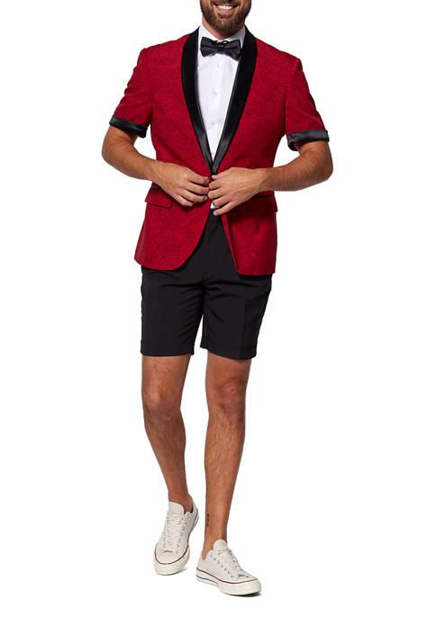 OppoSuits Peony Red Festive Slim Fit Summer Tuxedo