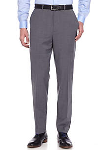 Slim Fit Gray Stretch Suit Pants