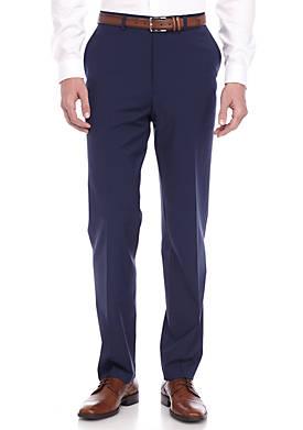 Slim-Fit Navy Stretch Suit Pants
