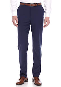 Slim-Fit Navy Stretch Suit Pants