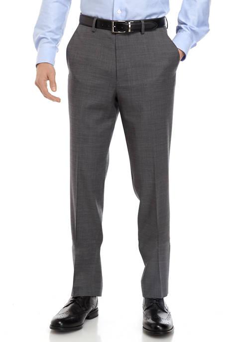 Big & Tall Gray Sharkskin Stretch Pants