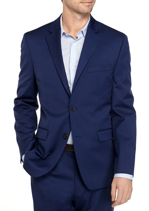 Crown & Ivy™ Blue Stretch Suit Separate Coat