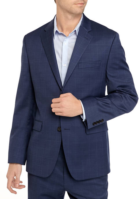 Crown & Ivy™ Navy Windowpane Stretch Suit Separate