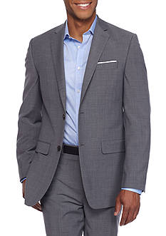 Crown & Ivy™ Slim Fit Stretch Gray Suit Coat