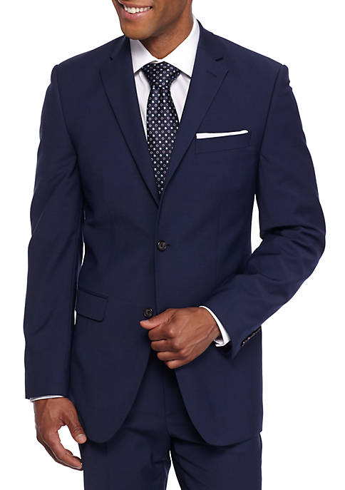 Crown & Ivy™ Slim Fit Navy Stretch Suit