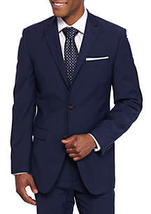 Slim Fit Navy Stretch Suit Coat