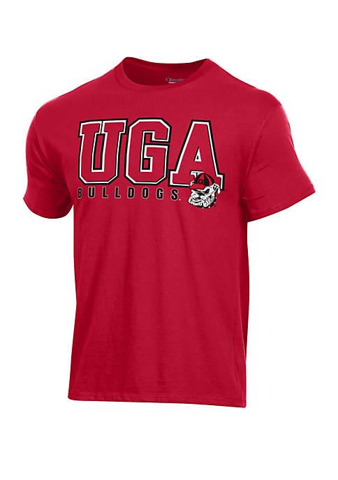 Georgia Bulldogs Short Sleeve Ringspun T Shirt