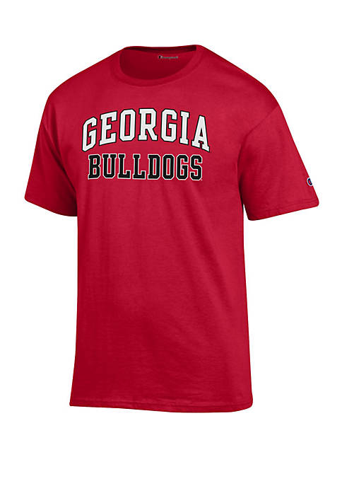 Georgia Bulldogs Short Sleeve Scarlet Jersey T Shirt