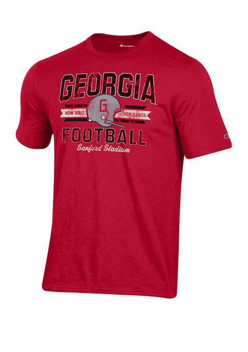 Champion® Mens NCAA Georgia Bulldogs Football Vault T-Shirt