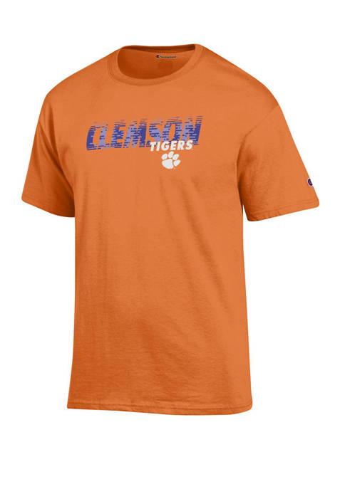Champion® Mens NCAA Clemson Tigers Slanted Line Graphic