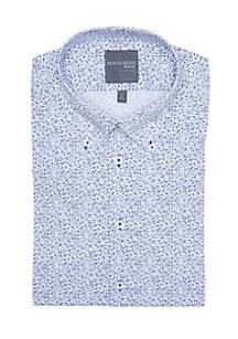Slim Fit Floral Printed Stretch Dress Shirt