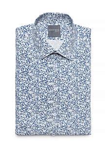 Slim Fit Vine Printed Stretch Dress Shirt