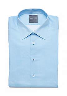 Slim Fit Geo Printed Stretch Dress Shirt