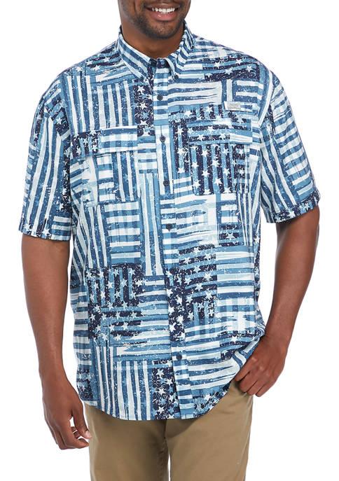 Ocean + Coast® Printed Short Sleeve Fishing Shirt
