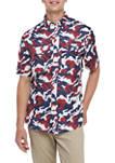 Short Sleeve Printed Fishing Shirt