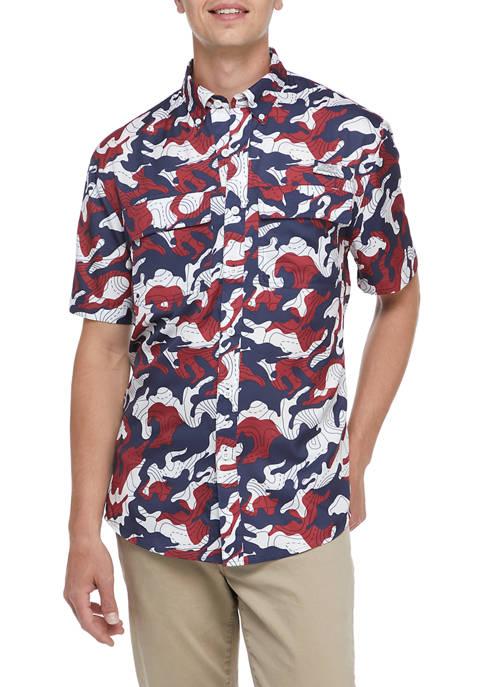 Ocean + Coast® Short Sleeve Printed Fishing Shirt