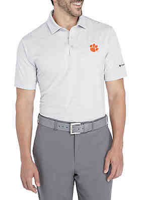 ae1eccd3a7a5 Short Sleeve Clemson Tigers Omni-Wick One Swing Polo ...