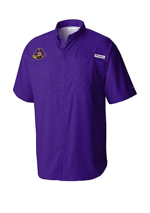 Columbia ECU Pirates Collegiate Short Sleeve Tamiami Shirt