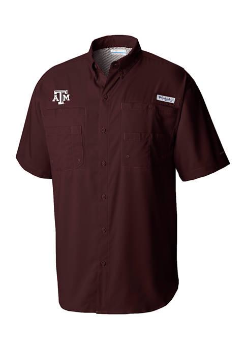 Columbia NCAA Texas A&M Aggies Short Sleeve Polo
