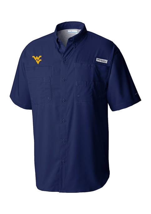 Columbia NCAA West Virginia Mountaineers Short Sleeve Polo