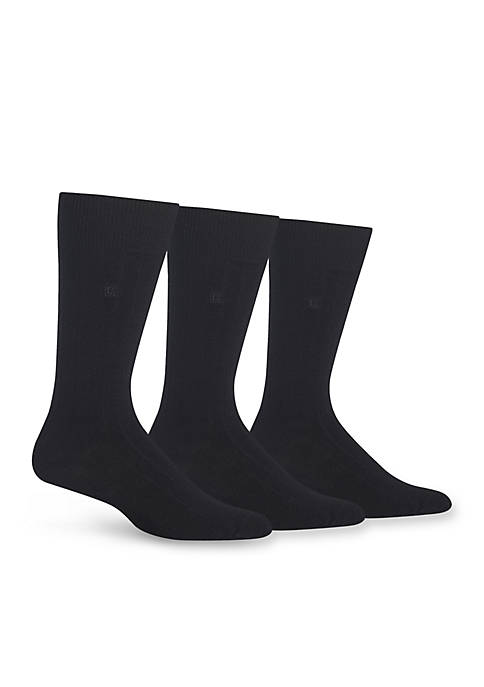Chaps Rib Crew Dress Socks 3-Pack